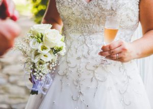 Wedding Flowers And Champagne - Château du Doux